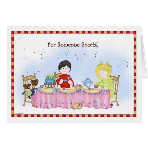 Kids Teaparty Birthday Card