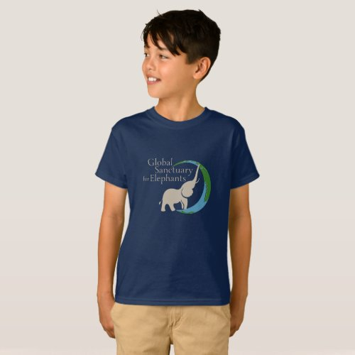 Kids tee with logo
