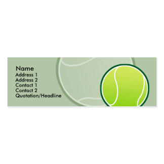 Kids Tennis Ball Skinny Profile Cards Double-Sided Mini Business Cards (Pack Of 20)