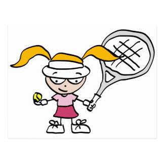Kids tennis postcard
