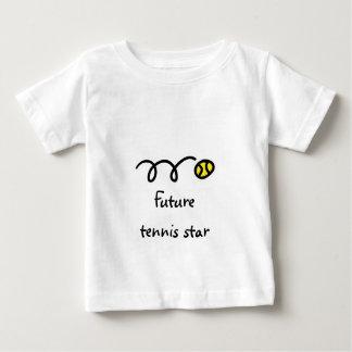 Kids tennis t shir with cute saying - Future star Baby T-Shirt