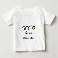 Kids tennis t shirt with cute saying - Future star