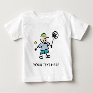 Kids Tennis Tee Shirt with cartoon tennis player