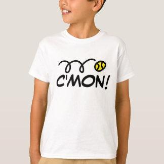 Kids tennis tee shirt with funny slogan | C'mon!