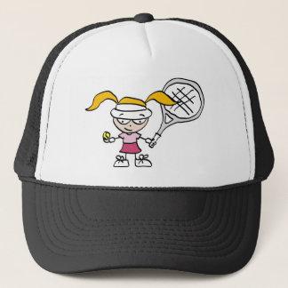 Kids tennis trucker hat