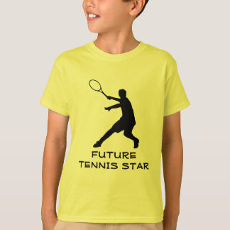 Kids tennis wear   T-shirt with motivational quote