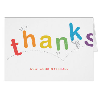 Kids thank you notecard