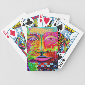 Kid's Theater Face Art by sharles Art Bicycle Card Decks