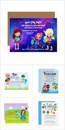 KIDS THEME PARTY INVITATIONS