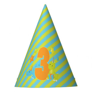 Kid's Third Birthday | Dinosaur T-Rex Stegosaurus Party Hat