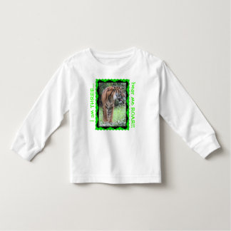 Kid's Tiger Birthday Shirt Change to any Age green