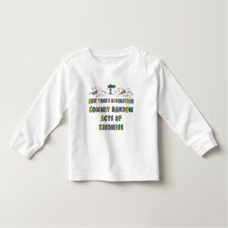 Kids, Toddler, Baby New Years Resolution Toddler T-shirt