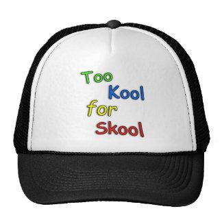 kids Too cool for school Trucker Hat