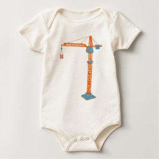 Kids' Toy Crane Drawing Baby Bodysuit