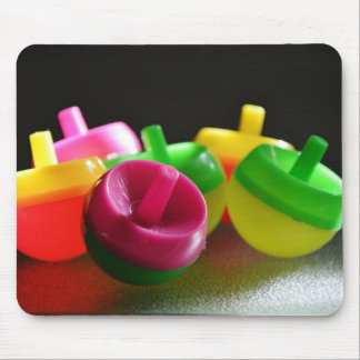 Kid's Toy Tops Spin Candy Colored Mouse Pad