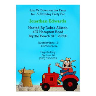 Kids Tractor  Theme  Birthday Invitation