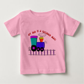 "Kids Train Shirts ""My Dad is a Railroad Man"""