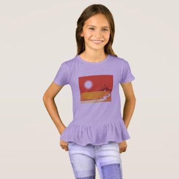 Beach Themed Kids travel t-shirt Lavender