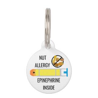 Kids Tree Nut Peanut Allergy Epinephrine Emergency Pet Tag