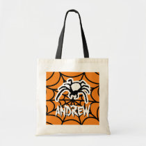 Kids trick or treat tote bag for Halloween party