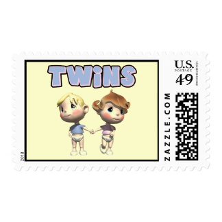 Kids Twins T Shirts and Kids Gifts Postage Stamp