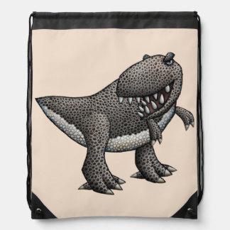 Kid's Tyrannosaurus Rex Drawstring Bag