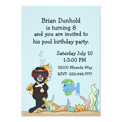 kid u0026 39 s underwater theme birthday party invitation