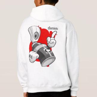 Kids Urban Clothing: Spray Paint Can Streetwear Hoodie
