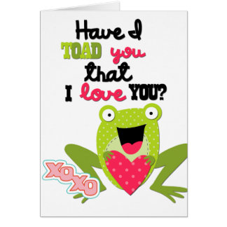 Kids Valentine Frog Card