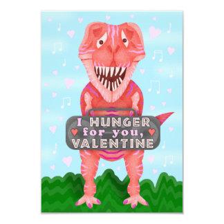 Kids Valentine's Day Dinosaur T-Rex Cute Classroom Card