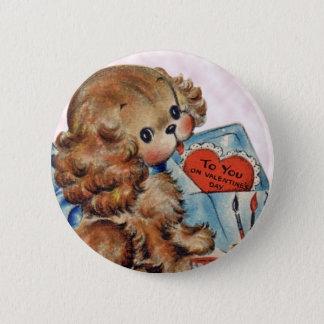 Kid's Vintage Puppy Valentine Pin