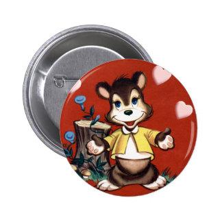Kid's Vintage Teddy Bear Valentine Pin