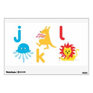 Kids Wall Art - Animals  Jellyfish, Kangaroo, Lion Wall Decal