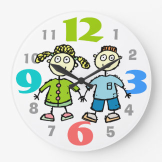 Kids Wall Clock With Coloruful  Numbers