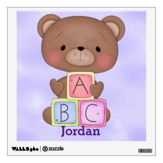 Kid's Wall Decal Cute Baby Teddy Bear
