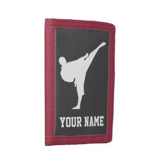 Kid's wallets with martial arts karate kick logo