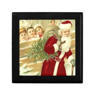 Kids Watching Santa Gift Box