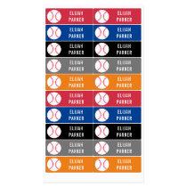 Kids Waterproof School Daycare Baseball Boys Kids' Labels
