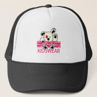 kids wear, baby dog trucker hat