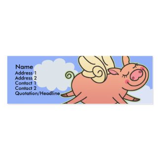 Kids When Pigs Fly Skinny Profile Cards Double-Sided Mini Business Cards (Pack Of 20)