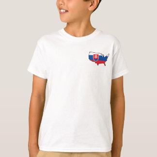 Kids White T-Shirt: Slovak in USA T-Shirt