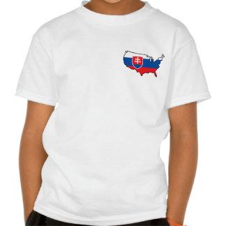 Kids White T-Shirt: Slovak in USA Tee Shirt