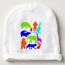 Kids Wild Animals Colorful Bright Cute Baby Beanie