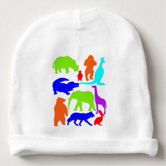 Kids Wild Animals Colorful Bright Cute Baby Beanie