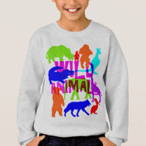 Kids Wild Animals Colorful Bright Cute Sweatshirt