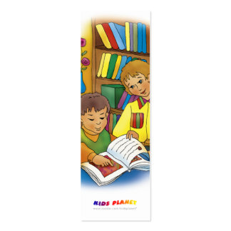Kids with book - bookmark for everyone! Double-Sided mini business cards (Pack of 20)