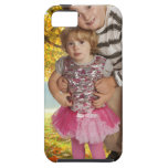 Kids with golden autumn background 7343 iPhone 5 cases