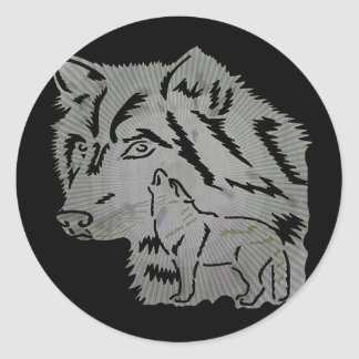 Kids Wolf T Shirts and Gifts Classic Round Sticker