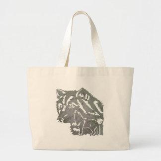 Kids Wolf Tote Bag
