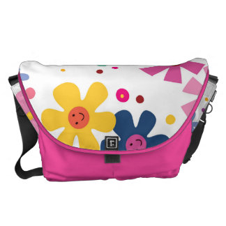 Kids World - Happy Flowers and Polka Dots Courier Bag